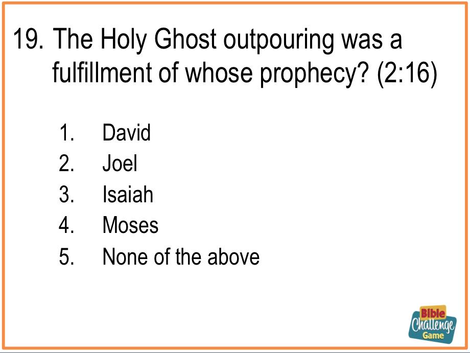 Bible Games Of Various Types